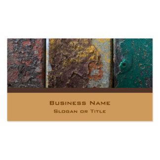 Rustic Texture With Flaking Paint On Rusty Metal Double-Sided Standard Business Cards (Pack Of 100)