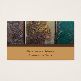 Rustic Texture With Flaking Paint On Rusty Metal Business Card