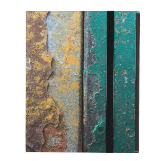 Rustic Texture With Flaking Paint On Rusty Metal iPad Cases