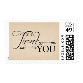 Rustic Thank You Arrows Postage Stamp