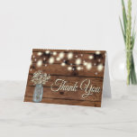 """Rustic Thank You, Mason Jar, Floral Thank You<br><div class=""""desc"""">Great cards to thank people with</div>"""