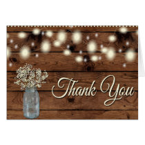 Rustic Thank You, Mason Jar, Floral Thank You