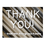 "[ Thumbnail: Rustic ""Thank You!"" Postcard ]"