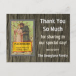 """[ Thumbnail: Rustic """"Thank You So Much"""" Postcard ]"""
