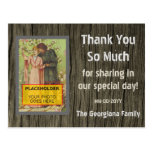 "[ Thumbnail: Rustic ""Thank You So Much"" Postcard ]"