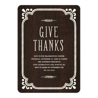 Rustic Thanks | Thanksgiving Dinner Invitation
