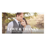 Rustic Thanks | Wedding Thank You Photo Card