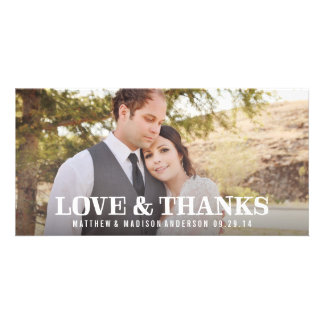 Rustic Thanks | Wedding Thank You Photo Card