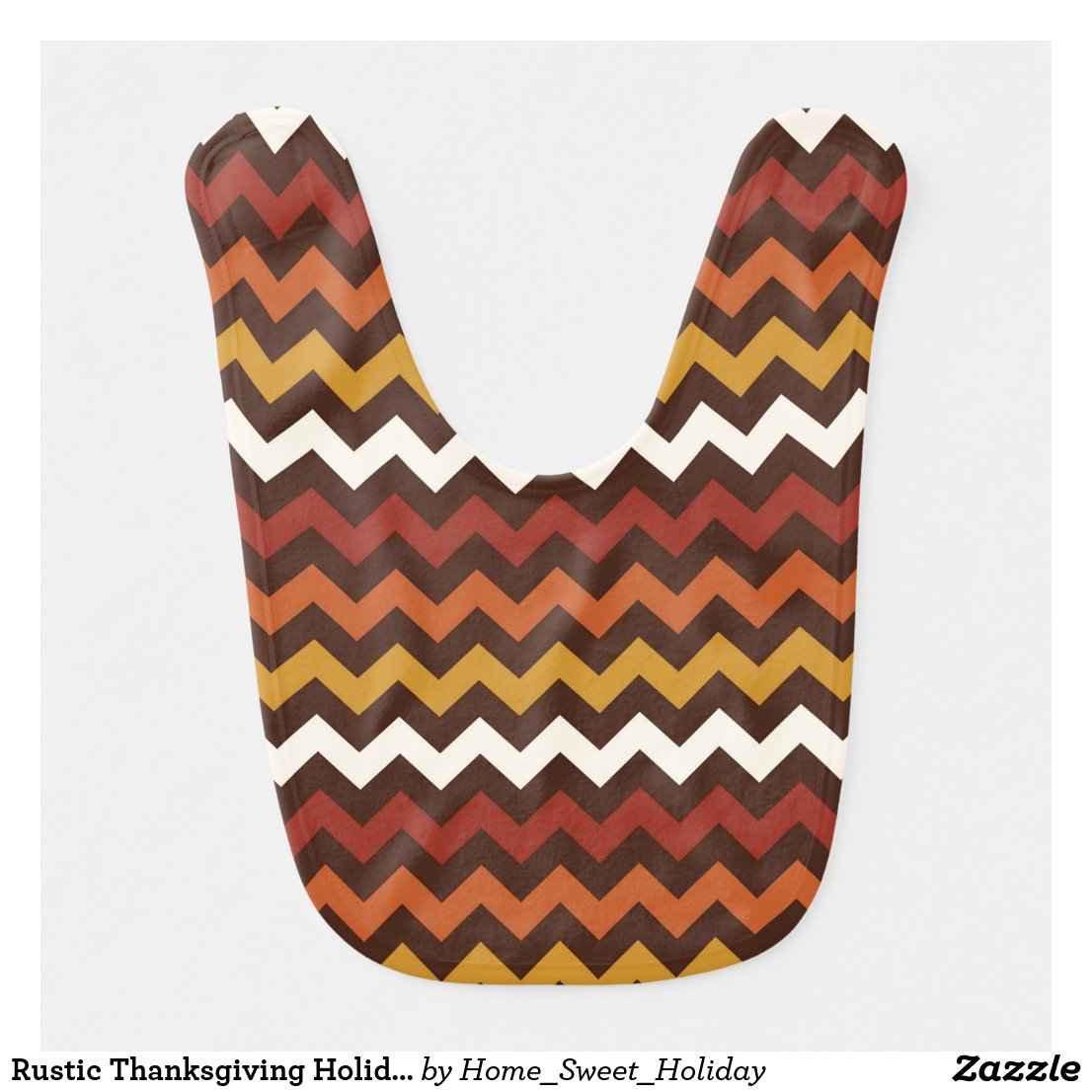 Rustic Thanksgiving Holiday Fall Autumn Chevron Bib