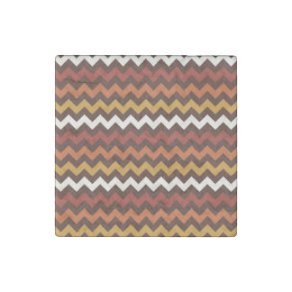 Rustic Thanksgiving Holiday Fall Autumn Chevron Stone Magnet
