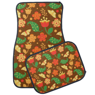 Rustic Thanksgiving Holiday Fall Autumn Colorful Car Mat