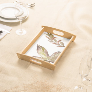 Rustic Thanksgiving Leaves Serving Tray