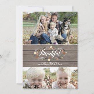 Rustic thanksgiving Photo Card