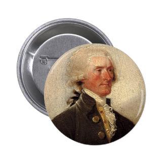 Rustic Thomas Jefferson Painting Button