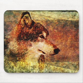 Rustic Timber Wolf Mouse Pad Mouse Pad