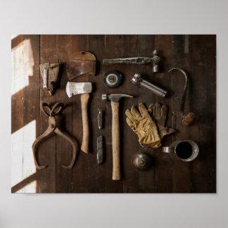 Rustic Tools Poster