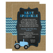 Rustic Tractor BOY Baby Sprinkle invitations