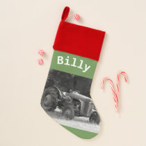 Rustic Tractor Christmas Stocking