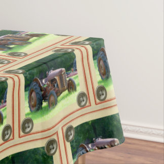 Rustic Tractor Table Cloth