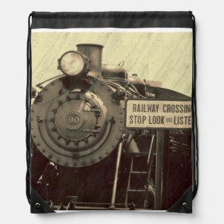 Rustic Train Backpack