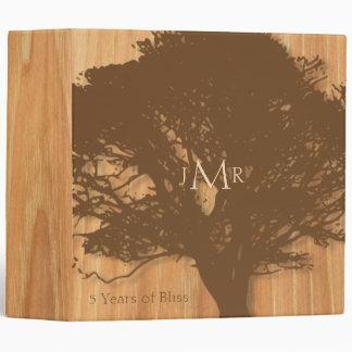 Rustic Tree 5th Wedding Anniversary Binder