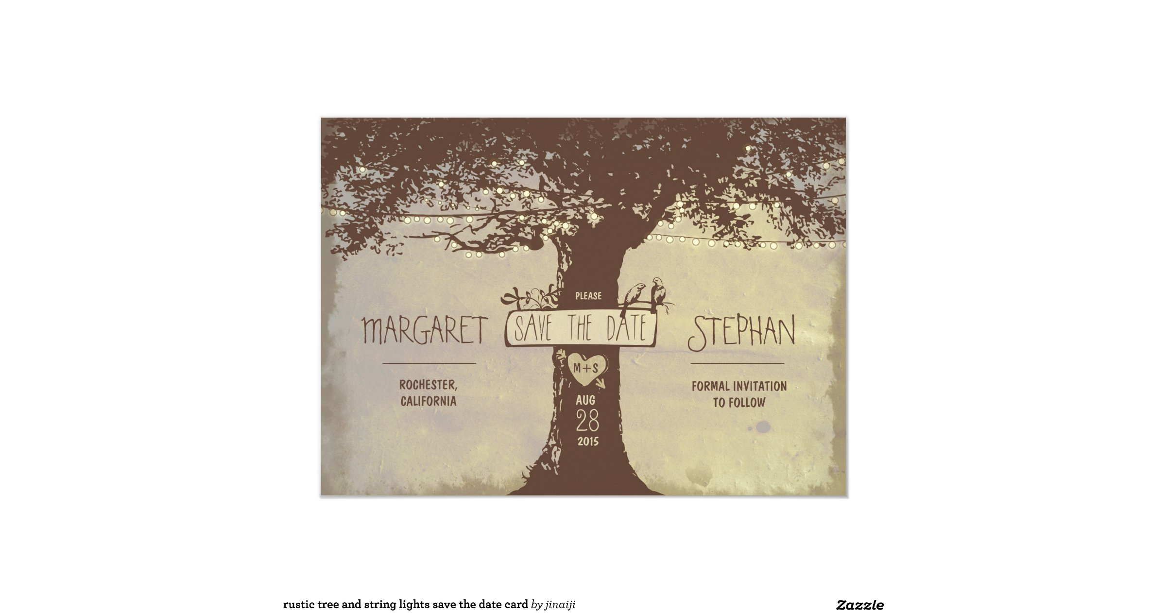String Lights Rustic Tree : rustic_tree_and_string_lights_save_the_date_card-rd28debe753f344eab3837d0abc59bc41_zk9li_1200 ...