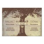 "rustic tree and string lights wedding invitation 5"" x 7"" invitation card"