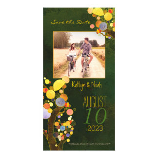 Rustic Tree Art Country Wedding Save the Date Card