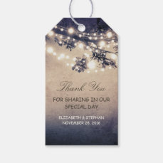 Rustic Tree Brances Lights Wedding Gift Tags