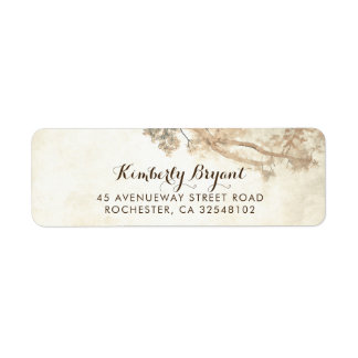 Rustic Tree Branches Dreamy Wedding Label