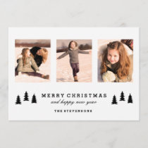 Rustic Tree | Modern Holiday Photo Card