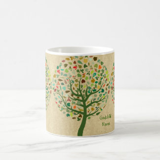 Rustic Tree of Life Teen Goddaughter Personalized Coffee Mug