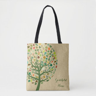 Rustic Tree of Life Teen Goddaughter Personalized Tote Bag
