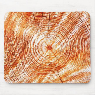 Rustic Tree Rings Wood Design Gifts Mouse Pads