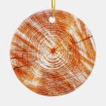 Rustic Tree Rings Wood Design Gifts Christmas Tree Ornament