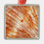 Rustic Tree Rings Wood Design Gifts Christmas Ornaments