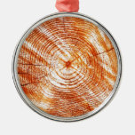 Rustic Tree Rings Wood Design Gifts Christmas Tree Ornaments