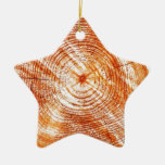 Rustic Tree Rings Wood Design Gifts Ornaments