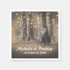 Rustic Tree & String Lights Wedding