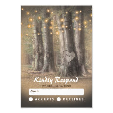 Rustic Tree & String Lights Wedding RSVP