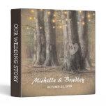 Rustic Tree & String Lights Wedding Story Album 3 Ring Binder