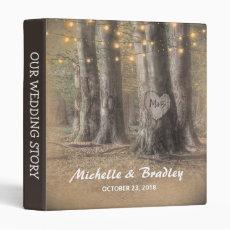 Rustic Tree & String Lights Wedding Story Album
