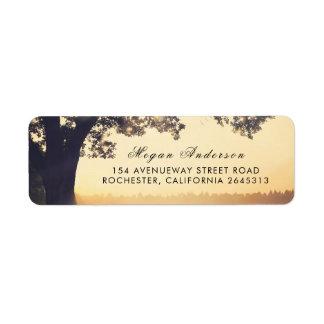 Rustic Tree Summer Wedding Label