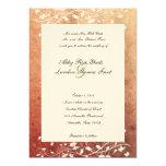 "Rustic Tree Warm Red Wedding Invitation 5"" X 7"" Invitation Card"