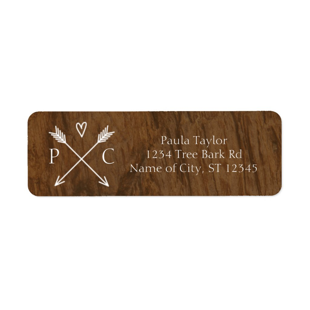 Rustic Tree Wedding Address Label 5 sheets.
