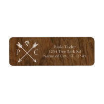 Rustic Tree Wedding Address Label