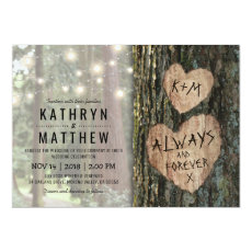 Rustic Tree Wedding | Country Twinkle Lights Invitation
