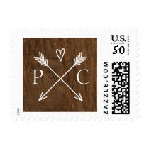 Rustic Tree Wedding Postage