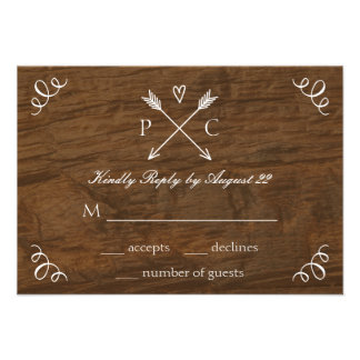 Rustic Tree Wedding RSVP Card