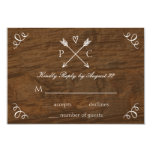 Rustic Tree Wedding RSVP Card Invites